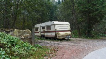 Old camper trailer