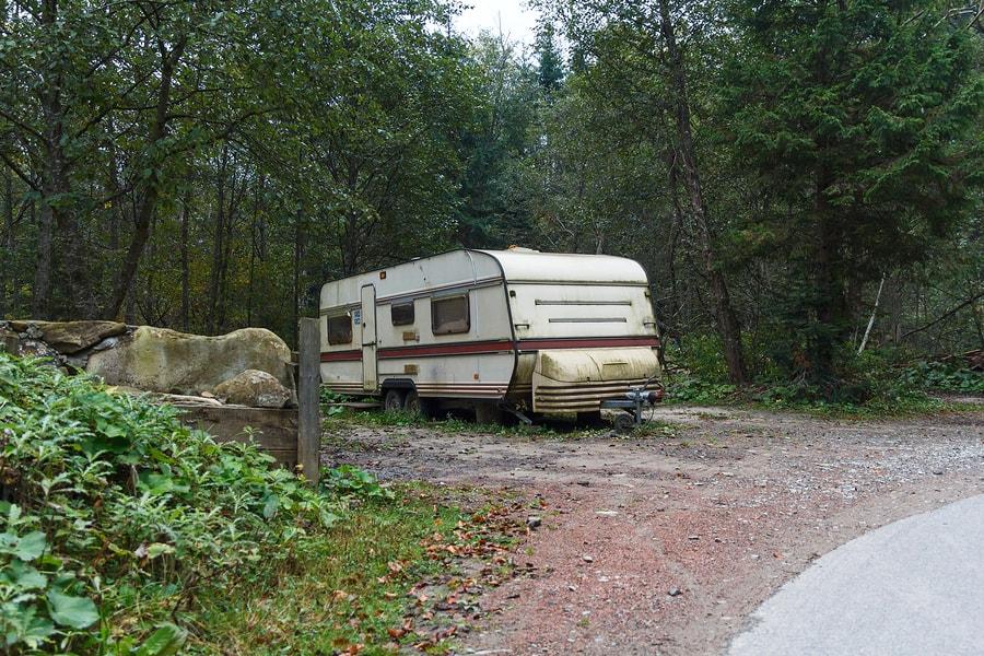 Old camper trailer